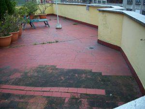 filtración de agua en terrazas