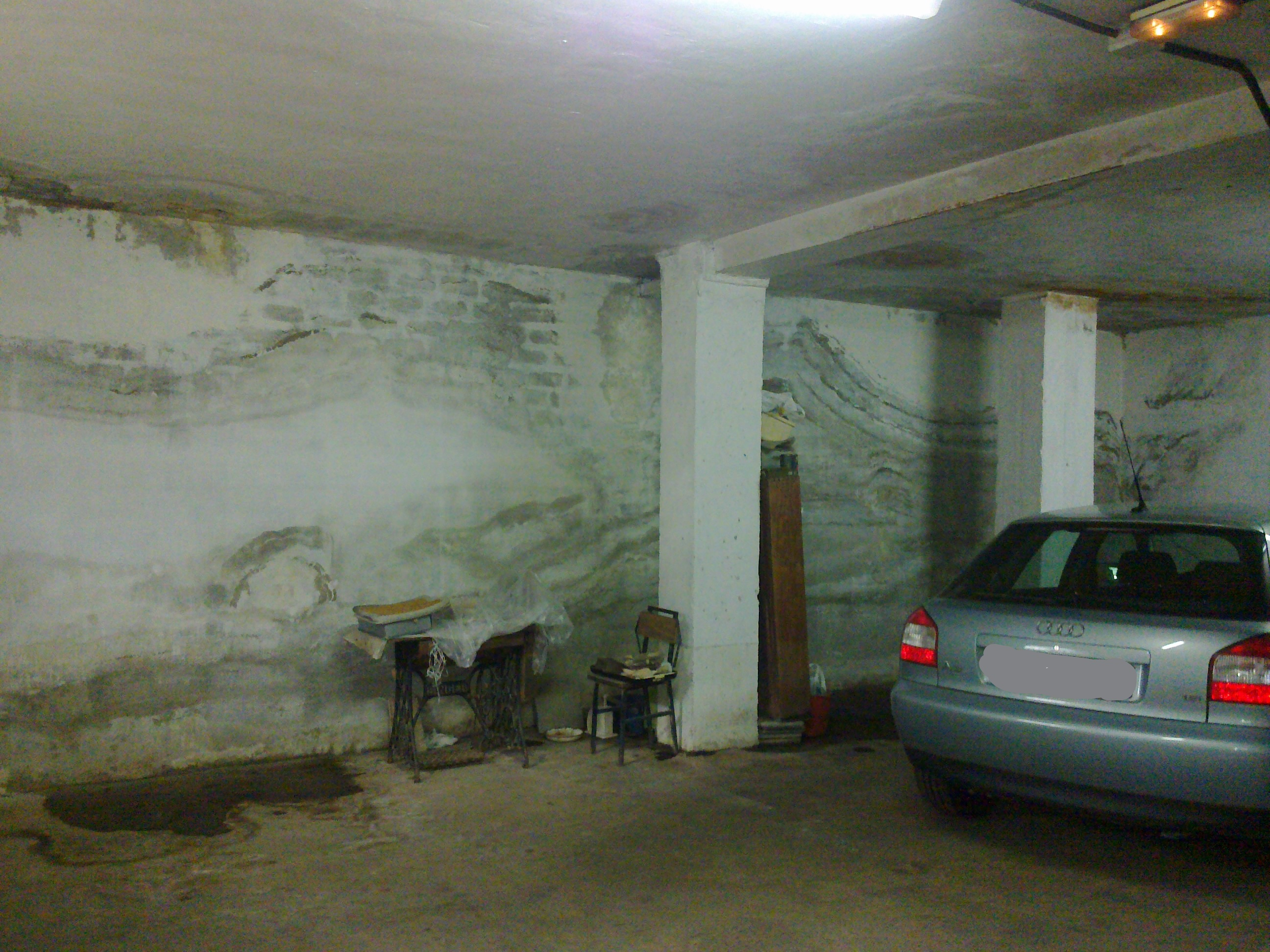 humedad en garajes y sótanos