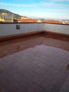 terraza impermeabilizada transparente